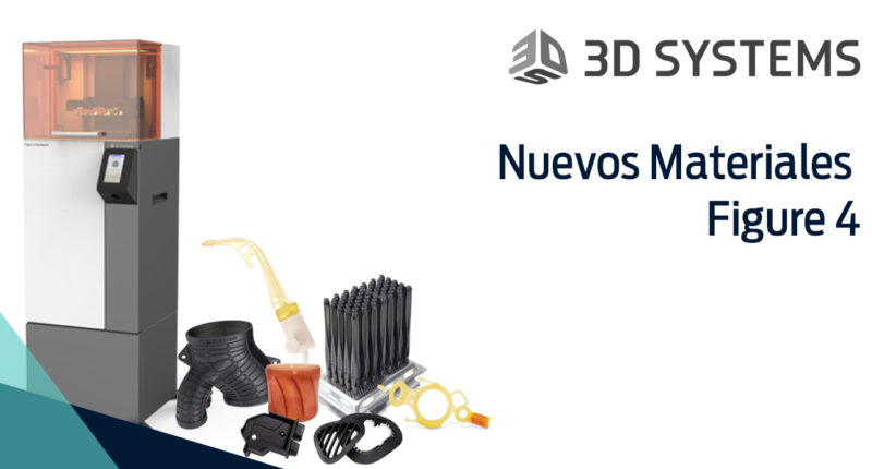Nuevos materiales disponibles para la Figure 4 de 3D systems